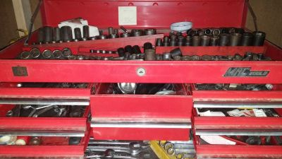 5 piece mac tool box and tools