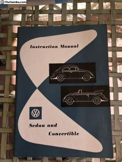 NOS 1958 VW Bug owners manual