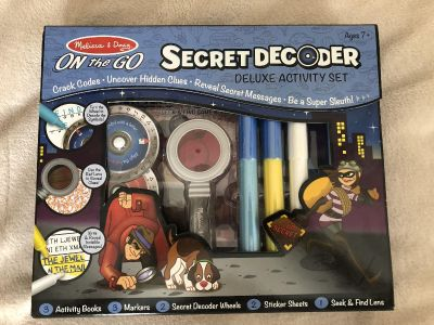 Melissa & Doug Secret Decoder deluxe activity set New in Box - perfect for car trips