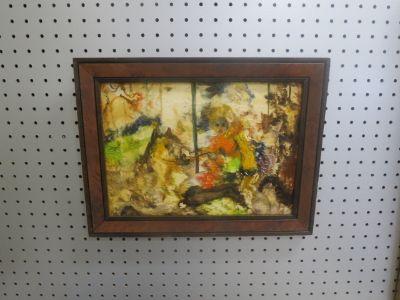 Vintage Mid-Century Modern Oil Painting