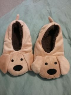 kids puppy slippers size 13-1