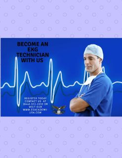 EKG Technicians are well trained with us! Sign up now
