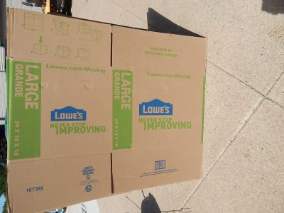 NEVER USED - LOT OF 7 LARGE LOWE'S MOVING BOXES