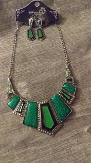 Brand New Statement Necklace and matching earrings