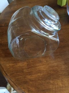 Glass cookie jar