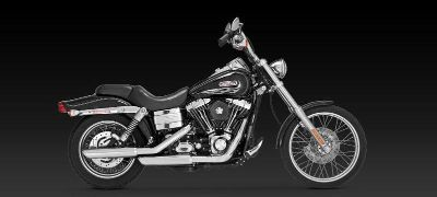 "Purchase Vance & Hines Twin Slash 3"" Chrome Slip-On Exhaust 91-12 Harley Davidson Dyna motorcycle in Ashton, Illinois, US, for US $325.95"