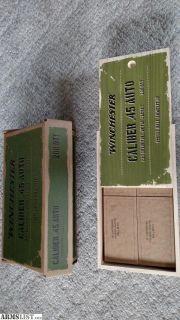 For Sale: Winchester .45 ACP hardball