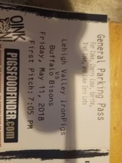 5 tickets to Iron Pigs Friday 5/11