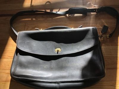 Older coach briefcase bag purse leather