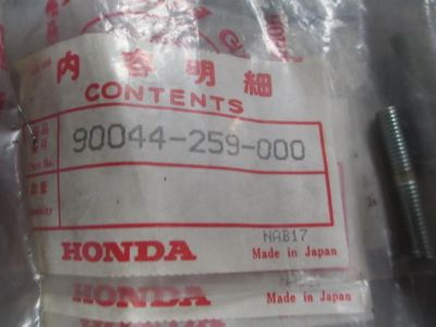 Buy X410 NOS GENUINE HONDA CB175K1 SS125A CL125 CL175 CL77 BOLT STUD #90044-259-000 motorcycle in Camp Hill, Alabama, US, for US $12.99