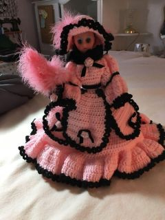 Hand crocheted bed doll. Not a child s toy
