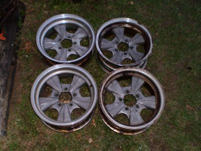 RARE BATMOBILE Vintage Mickey Thompson Rader Wheels GASSER RAT ROD HOT ROD DODGE FORD AMC 5 ON 4 1/2
