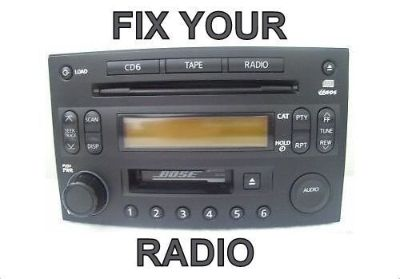 Find NISSAN CD 6 Disc Radio * REPAIR * 350Z MURANO XTERRA TITAN ALTIMA PATHFINDER motorcycle in Brentwood, California, United States, for US $139.00