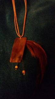 Brown Feathers Necklace
