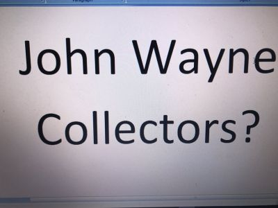 John Wayne Collectibles