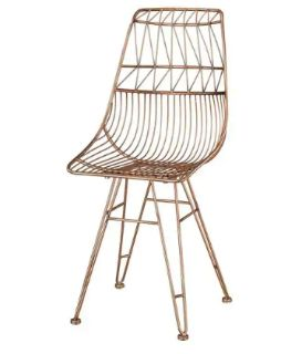 Sterling Home Jette Chair In Rose Gold