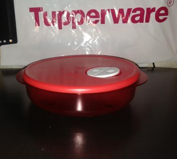 New Tupperware Crystal Ware Microwavable Plate
