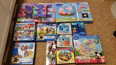 Lot Puzzle, Jumbo Cards, 4 in 1 Bingo, Paw Patrol, Mickey Mouse, PJ Mask, Dory, Peppa Pig, Avengers.