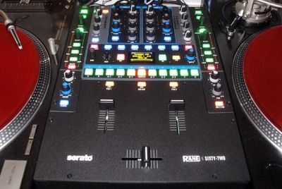 Rane 62 DJ mixer  odyssey flight case