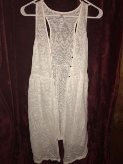 Lace Vest or Beach Cover Up
