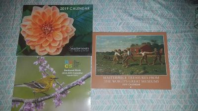 Lot of 3 new 2018/2019 full size calenders
