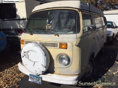 1977 VW Bus Westfalia Pop Top Camper Runs Drives