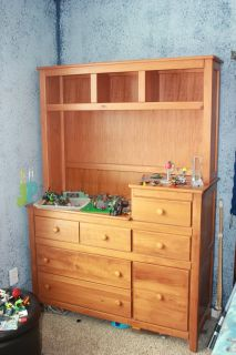 changing table dresser & hutch