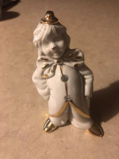Limoges Clown w/Swarovski Crystals and Gold