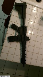 For Sale: AR15 Pistol. 10in barrel 5.56/223 Wylde. Blade support