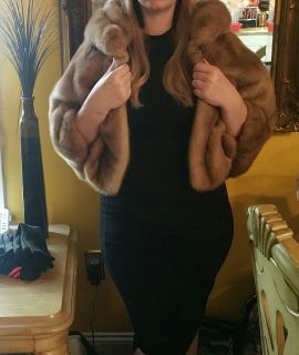 Gorgeous Real Mink Fur Cape