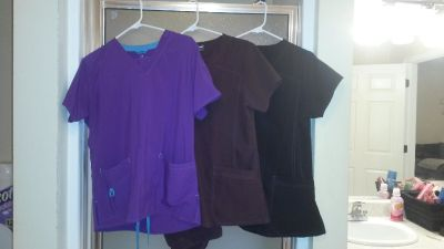 3 sets purple brown and black all have pants