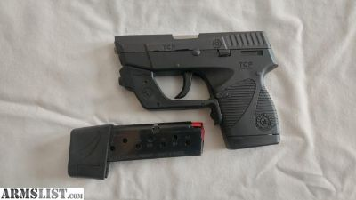 For Sale: Taurus 738TCP W/ Crimson Trace Laser Grip, IWB Holster, Belt Case, and extras pocket pistol .380 ACP