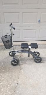 Drive Medical Dual Pad Knee Scooter with basket