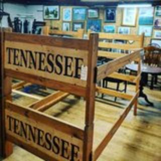 wooden Tennessee labeled bunk bed