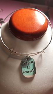 Handmade adjustable bracelet with inspirational quotes