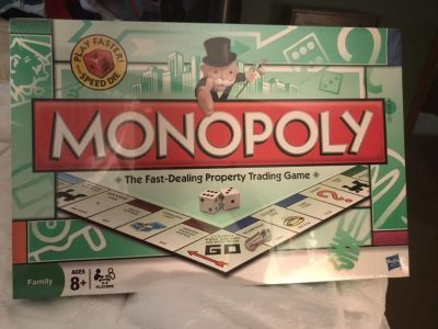 New in box Monopoly game by Hasbro.