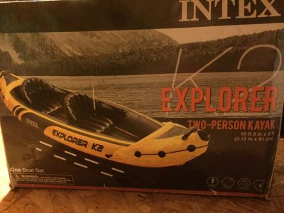 NIB Intex Explorer K2 2-person kayak