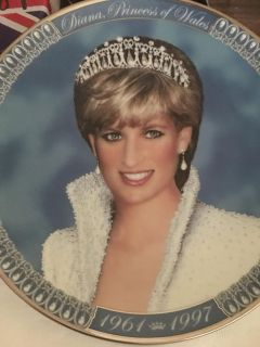 Gorgeous Princess Diana Limited Edition collectible plate! Rare and hard to find