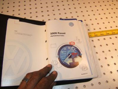 Sell VW 2000 Passat Wagon Owner manual's OEM 1 Booklet with BLACK outer VW OEM 1 Case motorcycle in Rocklin, California, United States, for US $95.00