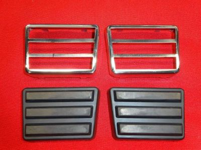 Buy 1962-64 Ford Galaxie XL Clutch Brake Pedal Pads & Stainless Trim Set 390 4 Speed motorcycle in Elkhorn, Nebraska, United States, for US $174.95