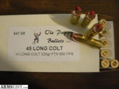 For Sale: 45 Colt 225gr FTX 850 FPS
