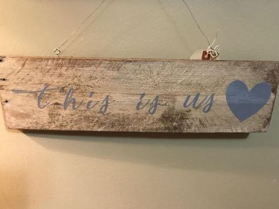 This is Us wood pallet Sign