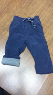 6-9 mo Jersey lined cargo pants