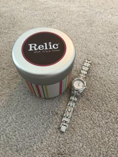 Relic watch with tin