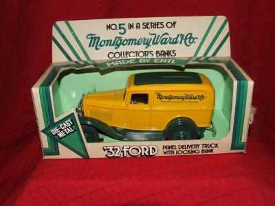 Ertl Montgomery Ward & Co. 1932 Ford Panel Delivery Truck Die-Cast Metal Bank