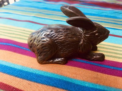 Vintage Small brass bunny. 3 length. Same item on eBay sells for $19-$50. Heavy