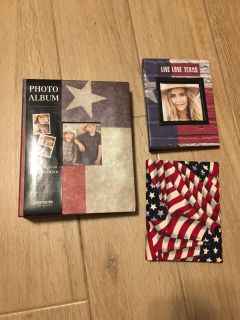 3 Americana Photo Albums 1 is Texas - 2 Are New