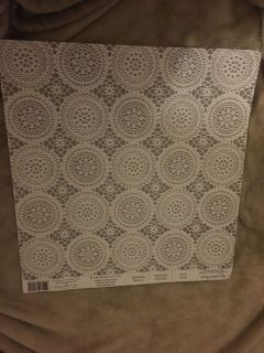 NEW Recollections 12 x12 Silver Lace Scrapbook Paper (2 available)