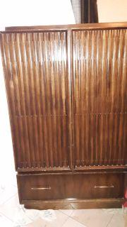 Brown oak chest