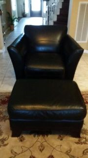 $150, Leather Sofa Chair and Ottoman Free desk